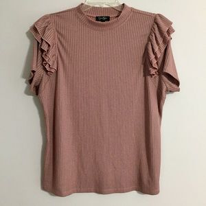 🔥 NWOT Jessica Simpson 1X Blush Rose Color Top